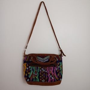 Handbags - Aztec Embroidered Hobo Bag